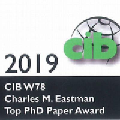 Le prix « Charles M. Eastman », reçu lors de la conférence CIB W78 2019
