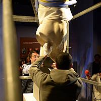 Étude et évaluation des possibilités de redressement de la statue de l'Empereur au MuséAl