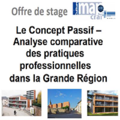 Offre de stage : « Le Concept Passif – Analyse comparative des pratiques professionnelles dans la Grande Région »